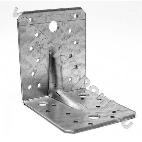 Derékszög lemez 105 x 105 x 90 mm gerinccel