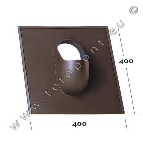Síkpala, bitumenes zsindely, Zenit, Rundo 400 x 400 mm tetőcserép forma, műanyag alapcserép