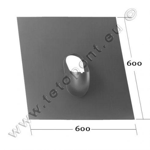 Síkpala, bitumenes zsindely, 600 x 600 mm műanyag alapcserép