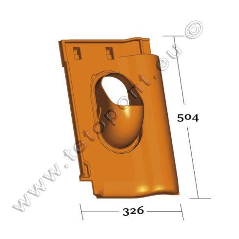 Balance tetőcserép forma, műanyag alapcserép