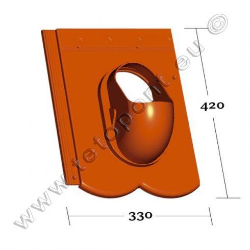 Reviva tetőcserép forma, műanyag alapcserép