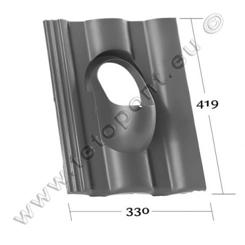 Standard, Azzurro Primo tetőcserép forma Klöber Venduct® DN 110