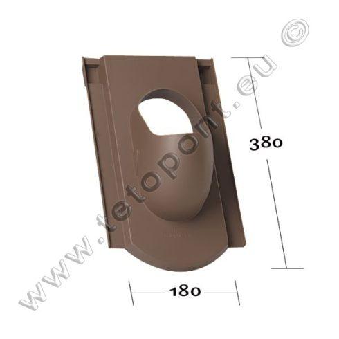 Hódfarkú koronafedéshez műanyag alapcserép